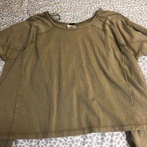 Free People Size Small Bell Crop Sweatshirt
